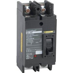 Square D QDP22200TM Breaker, Molded Case, 200A, 2P, 25kAIC, for EZM, Tenant Circuit