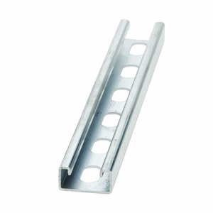 "Cooper B-Line B54SH-120AL Channel - Elongated Holes, Aluminum, 1-5/8"" x 13/16"" x 10'"
