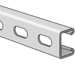 "Kindorf B-907-10-SS Channel - Bolt Holes, Stainless Steel 304, 1-1/2"" x 3/4"" x 10'"
