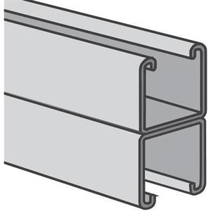 "Power-Strut PS200-2T3-10PG Channel - Back To Back, Steel, Pre-Galvanized, 1-5/8"" x 3-1/4"" x 10'"