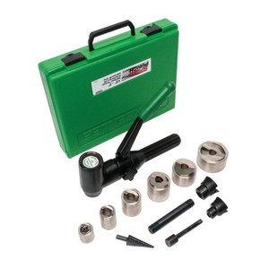 """Greenlee 7908SBSP 1-1/2""""-2"""" Knockout Punch & Die Kit with Driver"""