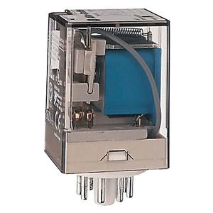 Allen-Bradley 700-HA33Z24-3-4 Relay, Ice Cube, 11-Pin, 3PDT, 10A, 24VDC Coil, Push to Test, LED