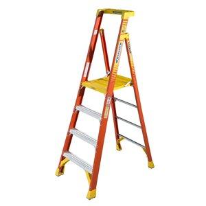 Werner Ladder PD6208 Podium Step Ladder, 8', 300 lbs