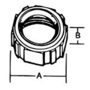 "Thomas & Betts BI-904 Bushing, Insulated, Size: 1-1/4"", Material/Finish: Iron/Zinc"