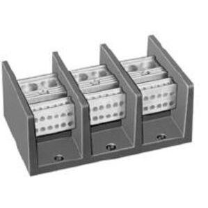 Square D 9080LBA362104 Power Distribution Block, 3P, 175A, 600VAC, 1 Main/4 Branch
