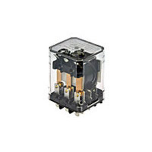 Tyco Electronics KUP-11A55-120 Relay, Ice Cube, 10A, 8-Blade, 2PDT, 120VAC Coil, Bracket Mount