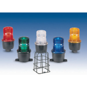 Federal Signal LP3MSA-012-048R Strobe Light, Streamline Series, Low Profile, 12 - 48 VDC, Red