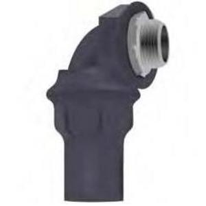 Calbond PV0700LT7590 Liquidtight Connector, 90°, Size: 3/4 inch, PVC Coated Steel.