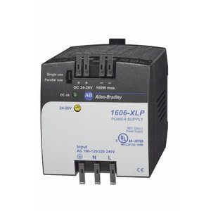 Allen-Bradley 1606-XLP100E Power Supply, Compact, 100W, 24 - 28VDC Output, 1-Phase
