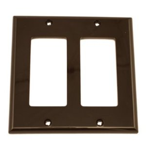 Leviton 80409-N Decora Wallplate, 2-Gang, Nylon, Brown