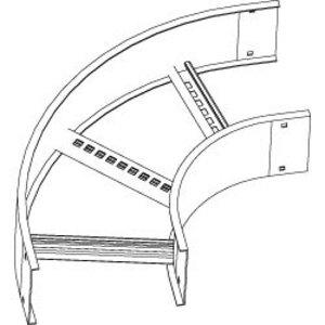 "Thomas & Betts AUF624LHB4512 Horizontal Bend, 45 Degree, 12"" Radius, 24"" Wide, 6"" High, Aluminum"