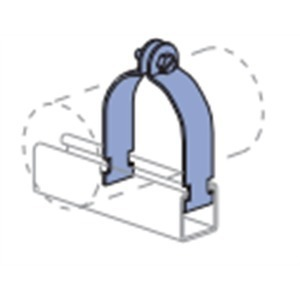 """Power-Utility Products RIG-A-1-EG Strut Conduit Clamp, 1"""", Steel/Electro-Galvanized"""