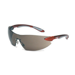 ABB S4411 Uvex Ignite Protective Eyewear, Frameless, Red/Gray