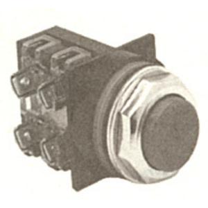 GE CR104PBG00B2 Push Button, Extended Black Head, Operator Only, 600V, Momentary