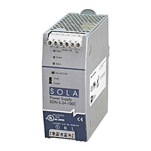 Sola Hevi-Duty SDN5-24-100C Power Supply, 5A, 1P, 85-264VAC, 24VDC, DIN Rail Mount