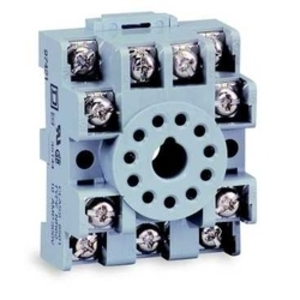 Square D 8501NR41 Relay, Socket, 5 Blade, 15A, 300VAC, DIN Rail Mount, Screw Clamp