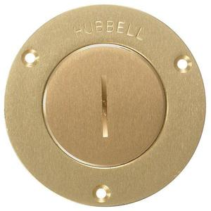"Hubbell-Wiring Kellems S3525 F-BOX CVR, RND, (2-3/8""),"