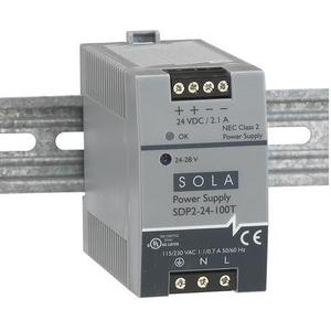 Sola Hevi-Duty SDP2-24-100T Power Supply, 2.1-1.8A, 1P, 85-264VAC Input, 24-28VDC Output