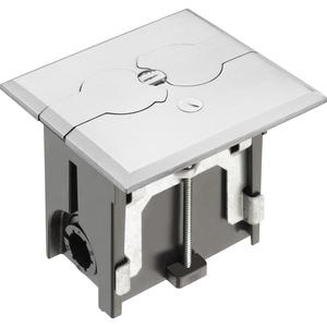 "Arlington FLBAF101NL Rectangular Floor Box Assembly, Adjustable, Depth: 2"", Nickel Plated"