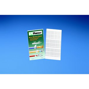"Panduit PCMB-9 Pre-Printed WM Book, Vinyl Cloth, .22"" W"