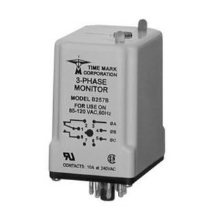Time Mark A257B Power Monitor, 3PH, 480VAC, Phase Loss, Low Voltage