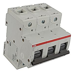 ABB S803U-K30 Circuit Breaker, Miniature, DIN Rail Mount, 30A, 3P, 240VAC, K Trip