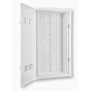 "Leviton 49605-30W 30"" Enclosure with Hinged Door, 34.10"" H x 19.5"" W x 4.94"" D, White"