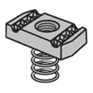 """Power-Utility Products RS1/2EG Spring Nut, Size: 1/2"""", Steel/Electro-Galvanized"""