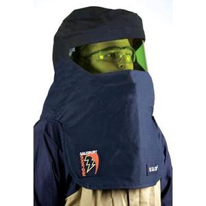 Salisbury FH8BL Arc Flash Hood, Amber Lens, Navy Blue