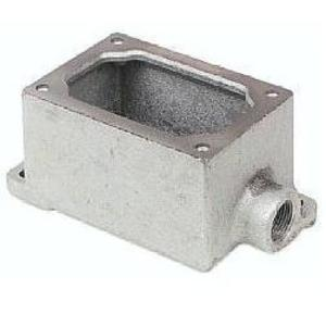 """Cooper Crouse-Hinds EDSC271 Mounting Body, EDS TYPE, 3/4"""", 1-Gang, Feed-Through, Iron, Limited Quantities Available"""