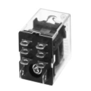 GE CR420NPC0224 Relay, 8-Blade, 2PDT, 24VDC Coil, Type N, Push to Test, LED Option
