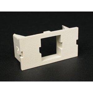 Wiremold CM2-U1ATT Single Unloaded Systimax Module, Non-Metallic, Ivory