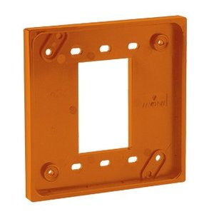 Leviton 3254-OR Four-In-One Adapter Plate. To Be Used with Cat 1254 and 21254 Only - ORANGE