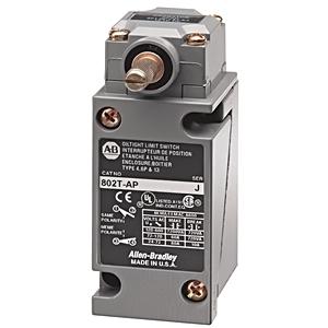 Allen-Bradley 802T-ATP Limit Switch, NEMA 4/13, Plug-In, Lever Type, Spring Return