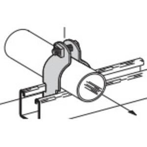 "Cooper B-Line B2010PAALW/SS6 Rigid Strut Strap, 1"", Material: Aluminum"