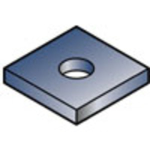 "Gibson Stainless & Specialty 5970-1/2"" Square Washer, 1/2"", Type 316 Stainless Steel"