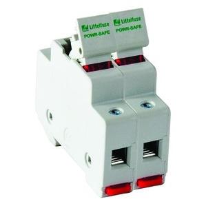 Littelfuse LPSM002ID Fuse Holder, 30A, 2P, 600V AC/DC, Midget, 100kAIC, DIN Rail Mount