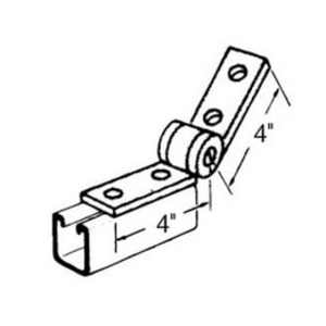 Superstrut Q205 4 Hole Adjustable Hinge, Steel, Electro-Galvanized