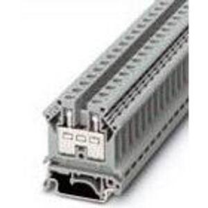 Phoenix Contact 3005015 Terminal Block, Feed through, 8.2mm, Gray, Asymetric DIN Rail Mount
