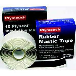 "Plymouth 08371 EPR-Backed Insulating Mastic, 4"" x 10' Roll"