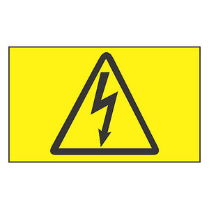 Panduit PLD-56 Electrical Label In Dispenser, High Voltage Symbol