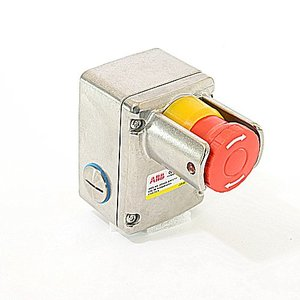 ABB 2TLA050220R1422 Push Button, Station, Emergency Stop, Stainless Steel, 2NO/NC