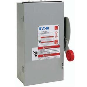 Eaton DCU3061URM Disconnect Switch, Ungrounded, 30A, 600VDC, 3P, Non-Fusible, NEMA 3R