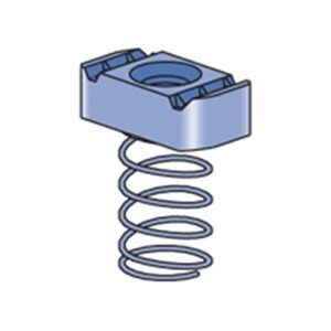 """Power-Utility Products RS-3/8-EG Regular Spring Nut, 3/8"""", Steel/Electro-Galvanized"""