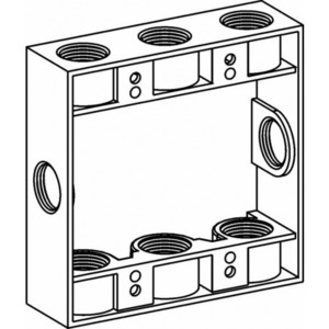 """Orbit Industries 2EXB75-8 Extension Ring, 2-Gang, 1"""" Deep, 8 Outlet Holes - 3/4"""" Size"""