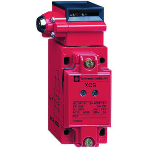 Square D XCSB503 Safety Switch, Interlock, 3P, 10A, 300VAC, Key Actuator, Red