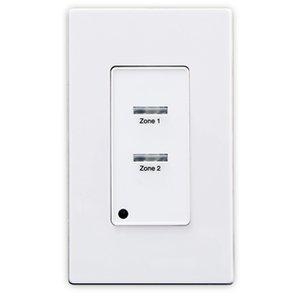 Leviton ZMDSW-2W Z-MAX® Digital Pushbutton Station, 02 Button, 1 Gang, White