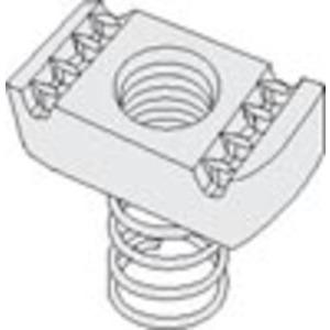 "PHD Manufacturing S3108EG Spring Nut, 1/2"", Steel, Electro-Galvanized"