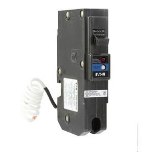 Eaton BRLAFGF120 Breaker, 20A, 1P, 120/240V, 10 kAIC, Type BR Combo AFCI/GFCI