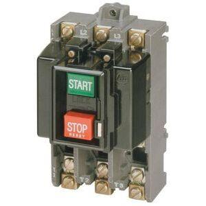 Allen-Bradley 609-AOW Manual Starter, Switch, 3P, Size 0, Push Button, Open